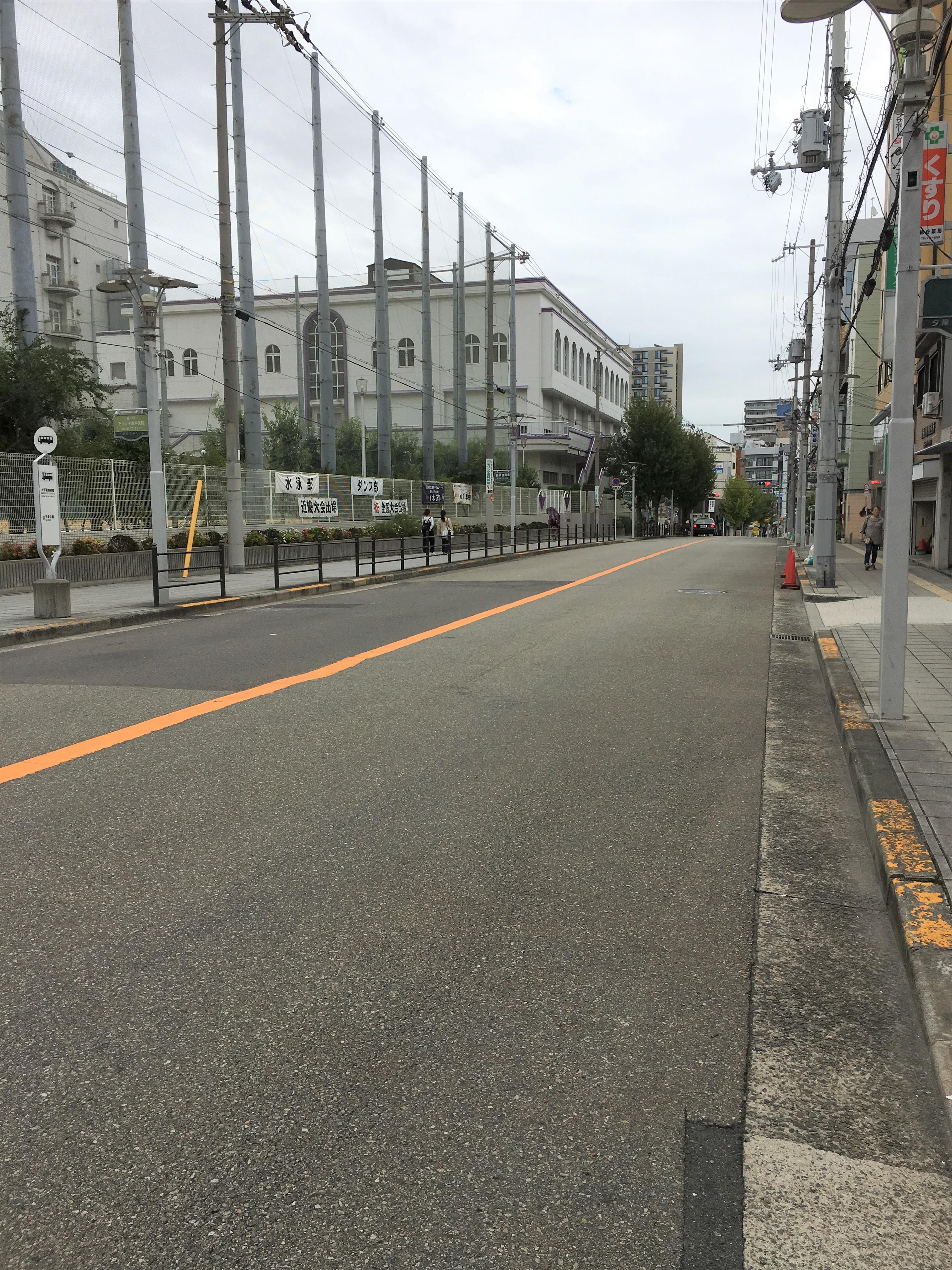 大阪警察病院のバス停はすぐ目の前です。(周辺)